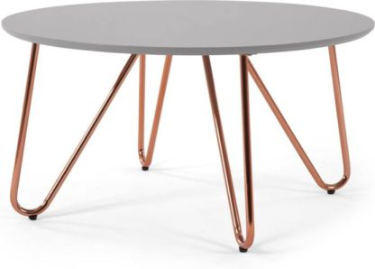 An Image of Eibar Coffee Table, Grey and Copper