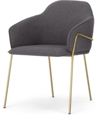 An Image of Stanley Frame Carver Dining chair, Nimbus Grey