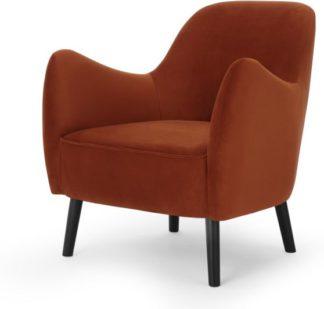 An Image of Davis Accent Armchair, Nutmeg Orange Velvet