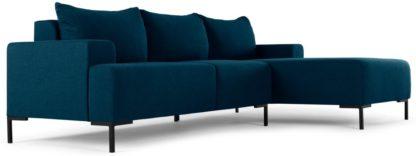 An Image of MADE Essentials Oskar Right Hand Facing Compact Corner Chaise End Sofa, Shetland Blue