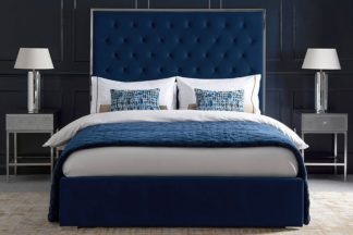 An Image of Lavinia Storage Bed Royal Blue