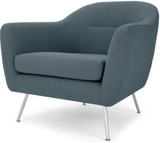 An Image of Reece Armchair, Mina Earl Blue with Metal Legs