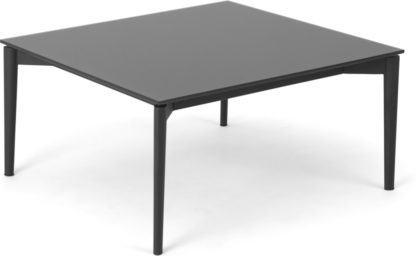 An Image of Tandil Square Coffee Table, Grey Glass