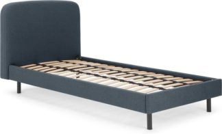 An Image of MADE Essentials Besley Single Bed, Aegean Blue