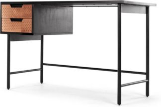 An Image of Franklin Desk, Black Stained Mango Wood and Copper
