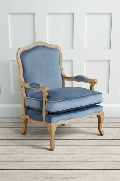 An Image of Le Brun - French Oak Wedgewood Occasional Armchair