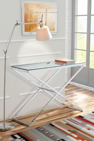 An Image of Anikka Chrome and Glass Console - Hallway Table