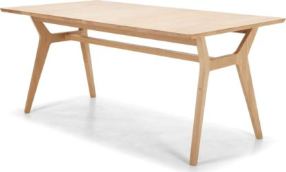An Image of Jenson 6-8 Seat Extending Dining Table, Solid Oak
