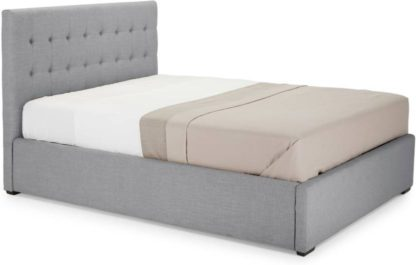 An Image of Finlay Kingsize Bed with Storage, Persian Grey