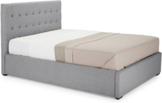 An Image of Finlay Double Bed with Storage, Persian Grey