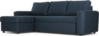 An Image of Aidian Corner Storage Sofa Bed, Regal Blue