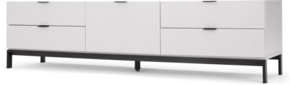 An Image of Marcell Wide Media Unit, Light Grey