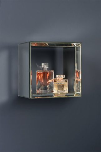 An Image of Mirrored Square Wall Shelf -Uno