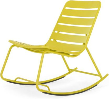 An Image of MADE Essentials Tice Garden Rocker, Chartreuse