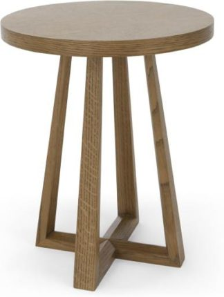 An Image of Belgrave Side Table, Dark Stained Oak