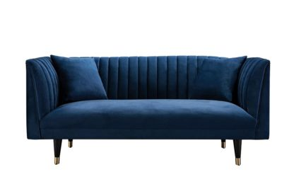 An Image of Baxter Two Seat Sofa - Navy Blue