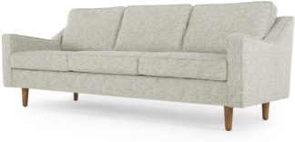 An Image of Dallas 3 Seater Sofa, Grey Basketweave