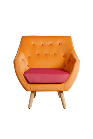 An Image of Poet Armchair, Luxor Orange Two Tones