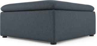 An Image of Victor Modular Sofa Ottoman, Lido Blue