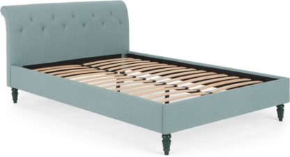 An Image of Linnell Double Bed, Bondi Blue Weave
