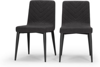 An Image of Set of 2 Lex Dining Chairs, Midnight Black