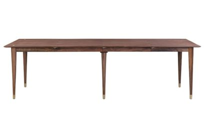 An Image of Como Walnut Extending Dining Table