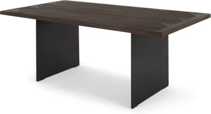 An Image of Phantom 8 Seat Dining Table, Wood and Metal
