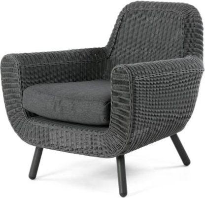 An Image of Jonah Garden Armchair, Rattan Grey
