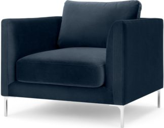An Image of Dree Accent Chair, Sapphire Blue Velvet