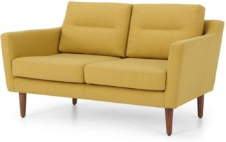 An Image of Walker 2 Seater Sofa, Orleans Yellow