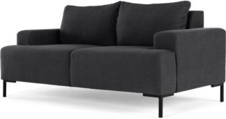 An Image of MADE Essentials Oskar 2 Seater Sofa, Sterling Grey