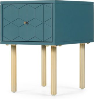 An Image of Hedra Bedside, Blue and Brass