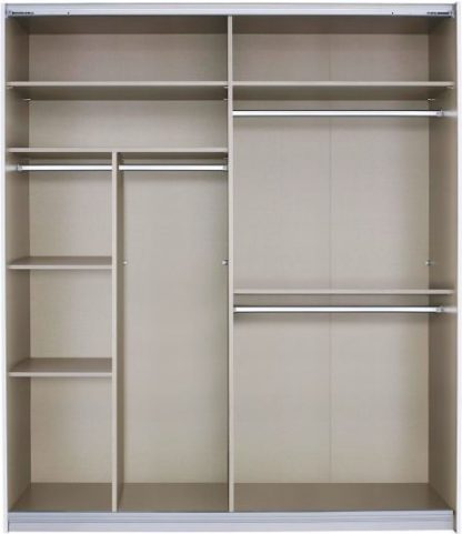 An Image of Malix 181cm Sliding Wardrobe Classic Interior Package