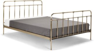 An Image of Starke Kingsize Bed, Brass