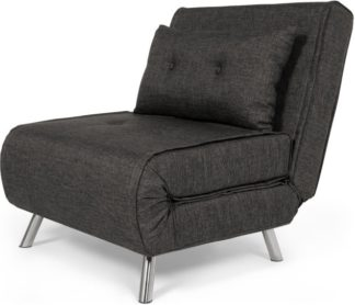 An Image of Haru Single Sofa Bed, Cygnet Grey