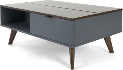 An Image of Aveiro Coffee Table, Dark Stain Oak and Grey