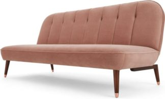 An Image of Margot Click Clack Sofa Bed, Blush Pink Velvet