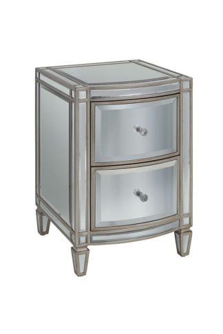 An Image of Antoinette Toughened Mirror Bedside Table
