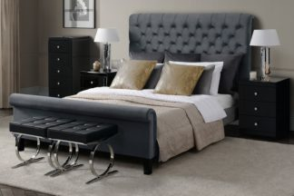 An Image of AMARE Upholstered Bed - Smoke