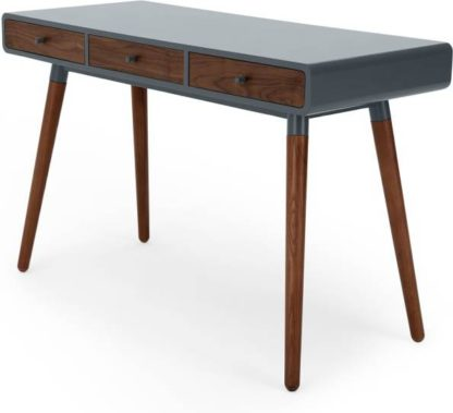 An Image of Edelweiss Desk, Walnut and Grey