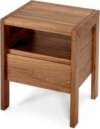 An Image of Ledger bedside table, dark stain ash