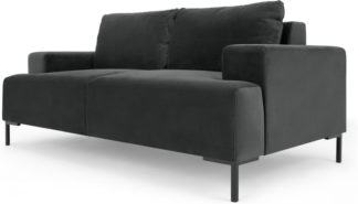 An Image of Frederik 2 Seater Sofa, Midnight Grey Velvet