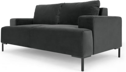 An Image of Frederik 2 Seater Sofa, Midnight Grey Velvet