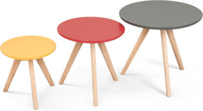 An Image of Set of 3 Orion Side Tables, Multicolour