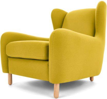 An Image of Rubens Wingback Armchair, Light Moss Green