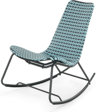 An Image of Pya Garden Rocker, Cadillac Blue and Black