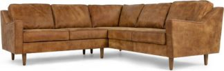 An Image of Dallas Corner Sofa, Outback Tan Premium Leather
