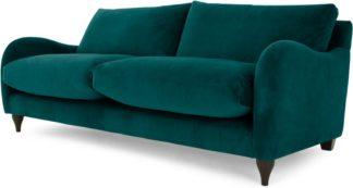 An Image of Sofia 3 Seater Sofa, Plush Mallard Velvet