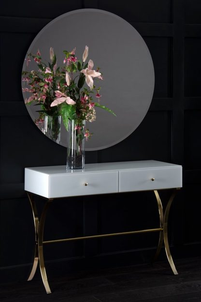 An Image of Aurelia White and Champagne Gold Dressing Console