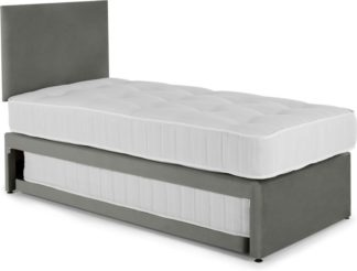An Image of Hyron Guest Bed with 2 Mattresses, Grey Velvet